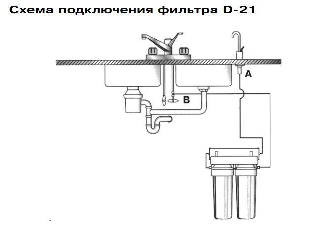 схема подключения D21
